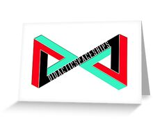 Didactic Infinity (Black) Greeting Card
