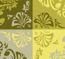 Floral Motif 5 - yellow green Sticker