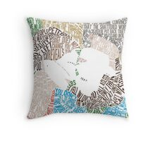 The Fault in Our Stars Movie Poster Typography Throw Pillow