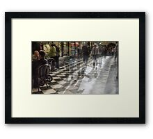 Everyday Abstract, Royal Arcade, Melbourne Framed Print