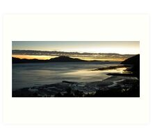 sunset hamilton island Art Print