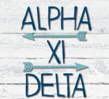 Alpha Xi Delta Painted Wood Sticker