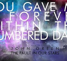 Forever Quote - The Fault in Our Stars by saycheese14