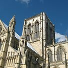 York Minster Against the Blue Sky by blueclover