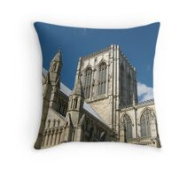 York Minster Against the Blue Sky Throw Pillow
