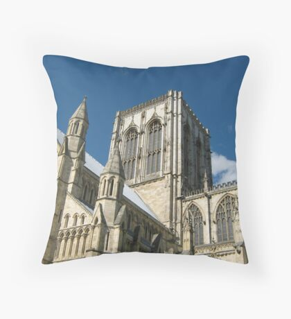 York Minster Against the Blue Sky Throw Pillow