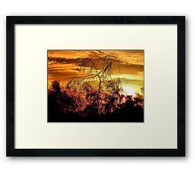 Sunrise On The Plains Framed Print