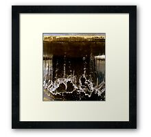 Falling Water Slapping Down Framed Print
