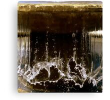 Falling Water Slapping Down Canvas Print