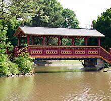 The swiss bridge in Birkenhead Park. by Alan Gillam
