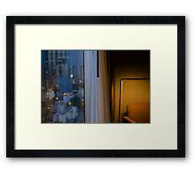 Hotel room Framed Print