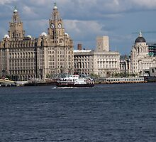 The Royal Daffodil crossing the River Mersey by Alan Gillam