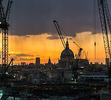 London Cityscape Sunset by Graham Prentice