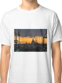 London Cityscape Sunset Classic T-Shirt