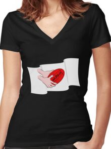 Japan Rugby Flag Women's Fitted V-Neck T-Shirt