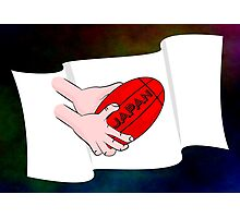 Japan Rugby Flag Photographic Print