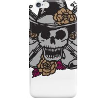 Skull with hat iPhone Case/Skin