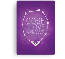 Gosh I Love Arrows Canvas Print