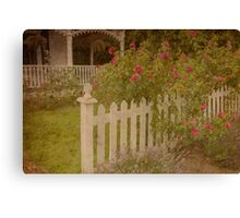 House with the white picket fence # 3 Canvas Print
