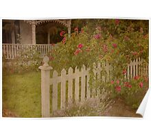 House with the white picket fence # 3 Poster