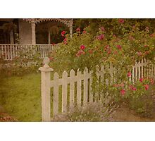 House with the white picket fence # 3 Photographic Print