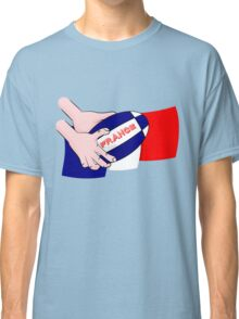 France Rugby Ball Flag Classic T-Shirt
