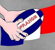 France Rugby Ball Flag by piedaydesigns