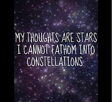 """""""My thoughts are stars..."""" - TFiOS by TheLovelyBooks"""