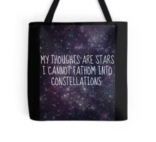 """""""My thoughts are stars..."""" - TFiOS Tote Bag"""