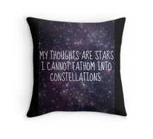 """My thoughts are stars..."" - TFiOS Throw Pillow"