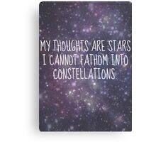"""""""My thoughts are stars..."""" - TFiOS Canvas Print"""