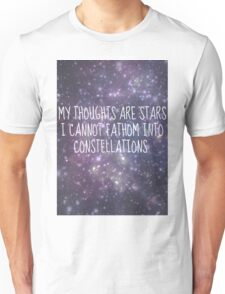 """My thoughts are stars..."" - TFiOS Unisex T-Shirt"