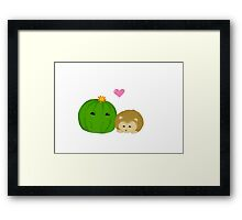A Prickly Pair Framed Print