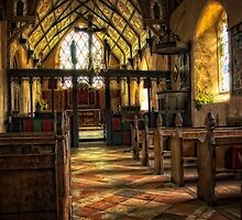 Inside Barsham Church by Simon Duckworth