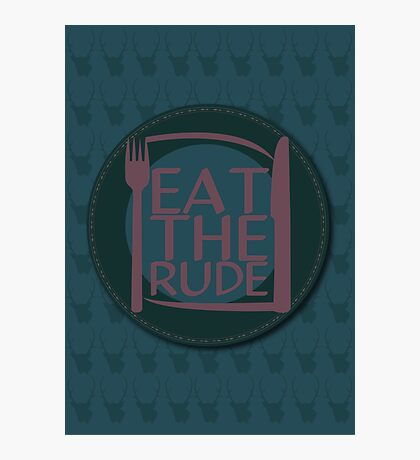 Eat The Rude (Purple) Photographic Print