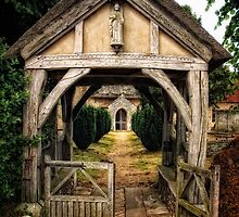Outside Barsham Church, Suffolk by Simon Duckworth