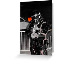 Black Stormtrooper Greeting Card