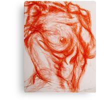 Torso - Female: Figure Study Canvas Print