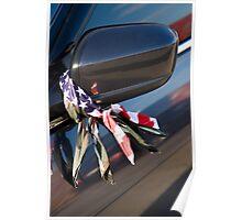 Camo, Flag, Mirror Poster