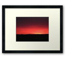 Another Stonking Sunset Framed Print