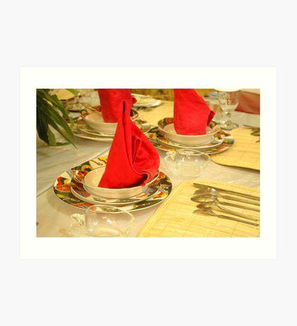 dinner table Art Print