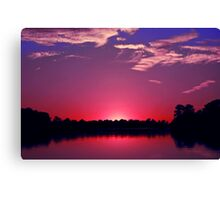 American Sunset Canvas Print