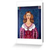 Ines de Castro - The love crowned Greeting Card