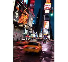 Warp Speed Taxis - Times Square Photographic Print