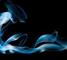 Alien Abduction - Smoke Art by Nigel Johnson