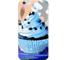 Chocolate Cupcakes with Blue Buttercream iPhone Case/Skin