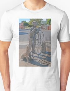 The Pennyfarthing cyclist and his dog  Unisex T-Shirt