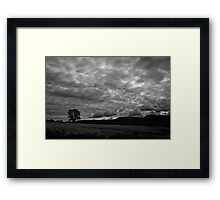 Grumpy Sky - South Wales Framed Print