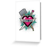 Heart Crest - Ramona Greeting Card