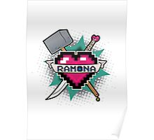 Heart Crest - Ramona Poster